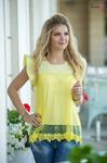 Блузка желтая 1295