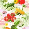 Вафельное полотно рис.5379-1 Овощной микс