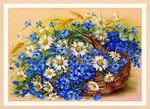 """Алмазная живопись """"Ромашки и васильки"""" (набор) 30 х 40 см арт. 3T0852"""