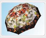 Зонты полиэстер легкие 3 сложения