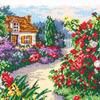 """Набор для вышивания счетным крестом """"Цветущий сад"""""""