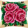 """Набор для вышивания подушка """"Розовые розы"""""""