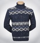 Теплый свитер с орнаментом(1142)