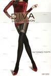 Фантазийные капроновые колготки Diva-7