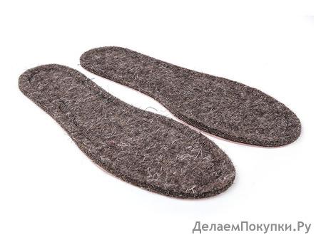 Стельки обувные из войлока на картоне