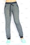 Спортивные меланжевые брюки Sara melange blue