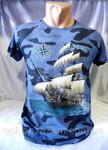 футболка мужская корабль