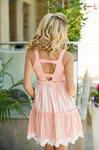 Платье персиковое 7685