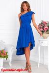 Платье василек асимметрия на одно плечо