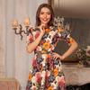 """Платье """"Лаура"""" 6807-2-9-миди шиповник /т.с"""