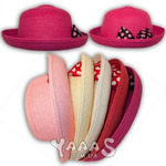 Шляпка для девочки соломенная с бантом