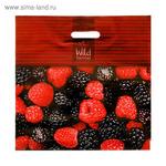 """Пакет """"Лесные ягоды"""", полиэтиленовый с вырубной ручкой, 44х44 см, 70 мкм"""