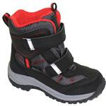 Демисезон обувь ОРТОДОН арт. 8002 черный/красный/флис/есть выкладка свода/ Большие размеры