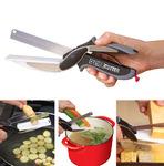 Нож-ножницы с разделочной доской 2 в 1 KNIFE CUTTING BOARD