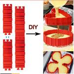 Разъёмная силиконовая форма для выпечки (4 шт)