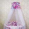 Комплект в кроватку-трансформер Дамаск цветочный