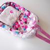 Гнездышко с подушкой для новорожденного Дамаск цветочный