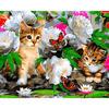 GX8285 Котята в цветах
