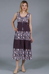 Платье-сарафан ярусное со шнурком