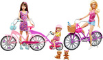 Barbie, Skipper and Chelsea Camping Fun Dolls With Bikes & Accessories