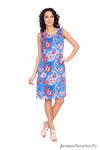 Платье 16306-3V голубой+12,5 транспортные