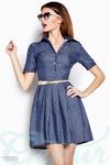 Джинсовое платье горошек