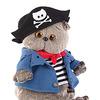 Игрушка мягкая кот Басик-пират (19 см) Ks19-048. На складе с 03.08.2016 года