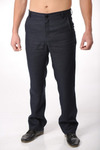 Брюки джинсы, коричневые,  лен 100% 46 р-р