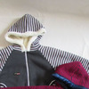 меховая куртка в полоску