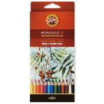 Набор художественных карандашей акварельных MONDELUZ, картонная упаковка с европодвесом
