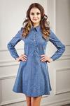 Платье голубая джинса принт звезды