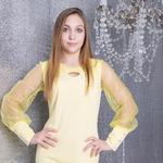 Платье коктейльное для девочки дт0274, рукав сетка