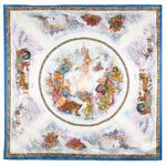 """Платок шелковый (атлас) """"Весёлая масленица"""", вид 13, 89х89 см Рисунок 10047-13"""