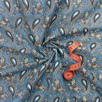 Ткань на отрез бязь плательная арт. 1437/2 синий (цена за 1 м)