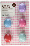 Eos Evolution Of Smooth Lip Balm, Passion Fruit, Blueberry Acai, Strawberry Sorbet, Sumer Fruit, & Sweet Mint, 5 piece