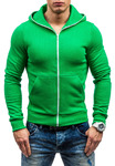 Толстовка мужская с капюшоном зеленая Denley ТОММИ