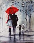 "Картина по номерам оптом ""Пара под зонтом"": GX8040 (40x50)"