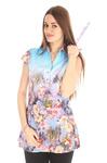 блузка женская с цветами