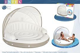 Надувной плот-матрас Intex: 199х150 см