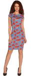 1041 Платье Алые розочки