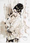 """Набор для вышивки крестом  Арт. А-1573 """"Материнская любовь"""""""
