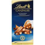Lindt Ganznuss Tafel Альпийский молочный шоколад с цельными лесными орехами 100г