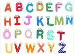 Английский алфавит на магнитах (набор 26 штук)