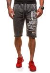 Короткие шорты трек мужские графитовые Denley 6050