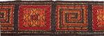 Лента отделочная жаккардовая арт.А 0033 шир.32мм уп.10м цв.золото/красный