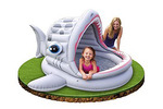 Детский надувной бассейн Intex с навесом: 201х198х109 см.