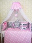 """Комплект в кроватку """"Облачко"""", розовый"""