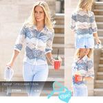 Легкая гипюровая блуза