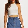 Синяя джинсовая клеш юбка