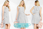 Воздушное платье полоска